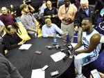 Photos from new-look Charlotte Hornets' media day