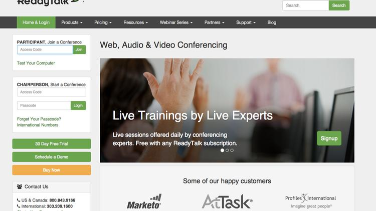 ReadyTalk, Denver. ReadyTalk is a web conference provider.