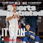 Sports Illustrated cover with Wainwright, Oshie shot by Business Journal photographer