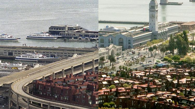 Loma Prieta Earthquake before and after: San Francisco ...