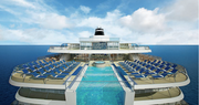 Viking Star features one of the only infinity pools at sea, allowing passengers to swim surrounded by their destination in a glass-backed pool cantilevered off the stern.