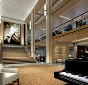 Viking Star's onboard venues include a dramatic three-deck atrium where passengers can enjoy musicians playing regional and classical music.