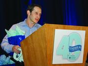 Jason Robins, CEO of DraftKings accepting his 40 Under 40 award at the Boston Business Journal's 17th Annual 40 Under 40 Awards Event.