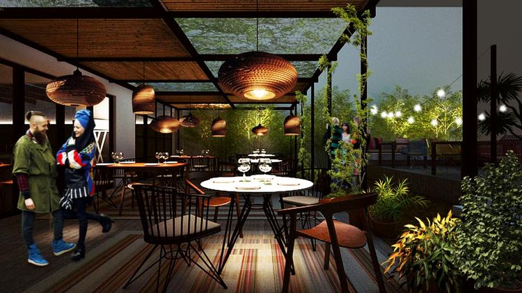 The 122 Seat Restaurant Will Have Feature Two Levels A Ground Floor Indoor