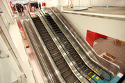CityTarget occupies two floors at The Galleria, which requires escalators to ferry both people and carts between departments.