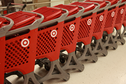 The Galleria CityTarget has shopping carts specially designed to travel between floors on a cart escalator.