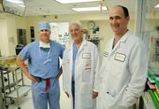 VolunteerDr. Christian Swanson, Dr. John Young and Dr. Ben Hunt of Mercy General and Dr. David Kissinger of Kaiser South Sacramento (not pictured) SPIRIT Hernia surgeons