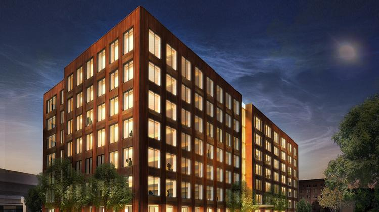 Hines Plans Seven Story Wooden Office Building In