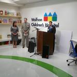 A robot,video games and movies are featured in Wolfson Children's Hospital high tech media center