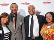 40 under 40 winner Stephen Hightower II (second from right) and supporters