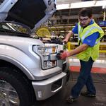 First Alcoa aluminum F-150 rolls off the production line (Video)