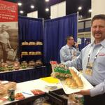 Vendors put on a spread at Delaware North food summit