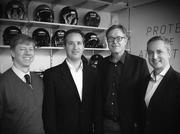 VICIS Inc. founders from left, Samuel Browd, Jonathan Posner, Per Reinhall and Dave Marver.