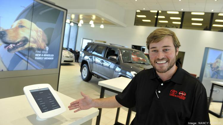 At Town U0026 Country Toyota Patrick Priester Showcases Tablet Computers In The  Showroom. Customers Can