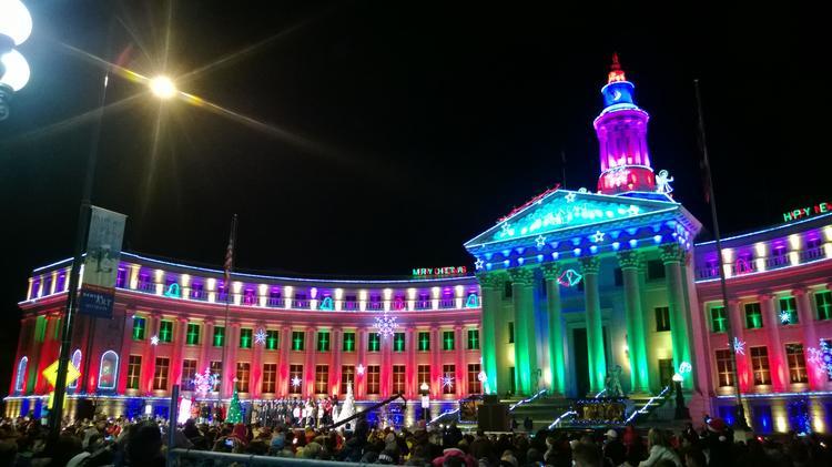 9News Light The Lights At Denveru0027s City U0026 County Building ...