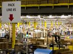 A view of the Amazon Fulfillment center in Lebanon Tenn. on Sunday November 30, 2014. (Photo by Josh Anderson)