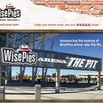 WisePies deal stacks up to other MWC arena naming agreements
