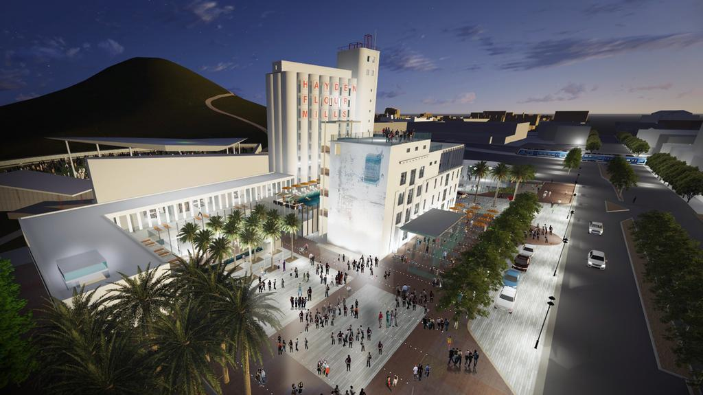 Exclusive Images How Tempe S Hayden Flour Mill Will Look As Redeveloped Hotel Phoenix Business Journal