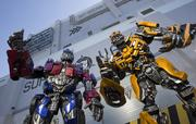 Optimus Prime, leader of the Autobots, and Bumblebee at Universal Studios Florida.