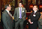 Andy Balogh, left, of TWIN Capital Management, Inc., Robert Jessup, center, of Pittsburgh Ballet and  John Voytko of Point Management Group.