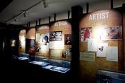 An exhibit inside The Johnny Cash Museum.