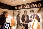 A view of the early days of Cash's career, when he played with the Tennessee Two.