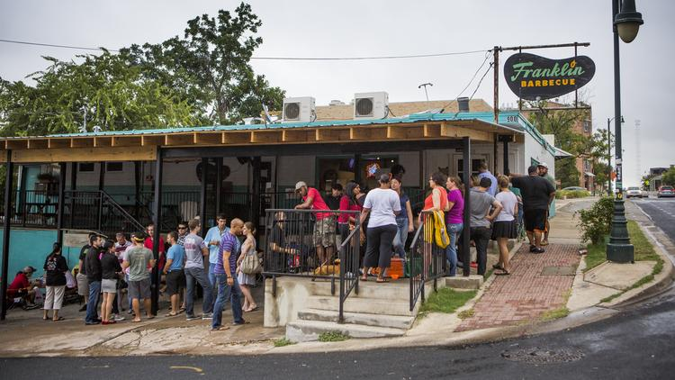 There S Always A Line At Franklin Barbecue Part Of The Reason Why Texas Monthly Has