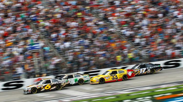 A NASCAR Sprint Series race at Texas Motor Speedway.