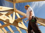 Home builder confidence slips from big high but stays healthy; builders stocks up