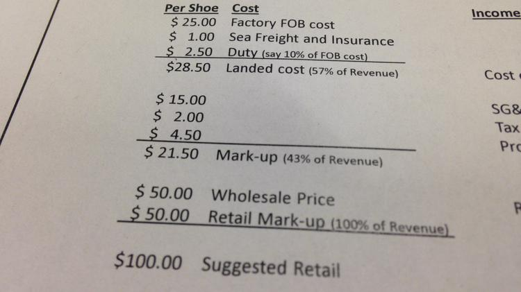 How Much Does A Head Gasket Cost >> The cost breakdown of a $100 pair of sneakers - Portland Business Journal