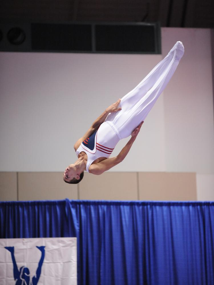 Logan Dooley competes in the Olympic Final Selection event in Kansas City in 2008. Dooley was an alternate to the 2008 and 2012 Olympic teams.