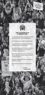 Maloofs thank Kings fans in ad