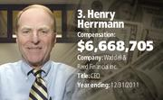Henry Herrmann, Waddell & Reed Financial Inc.  Compensation: $6,668,705