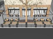 A parklet at 1801 L St., near Capital Dime and Ginger Elizabeth Chocolates, is planned to be completed in the spring.