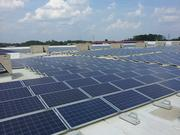 The 122,000-square-foot solar installation is perched atop the 356,000-square-foot store.
