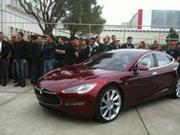 Tesla will start building the Model S sedan (prototype shown here) at its Fremont factory. The company's taken paid reservations of $5000 or more, for more than 3,000 of the car, which will be released in 2012.