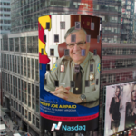 120-foot electronic Super Bowl billboard in Times Square features Sheriff Joe Arpaio