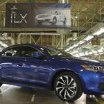 First Marysville-made Acura ILX rolls off production line today