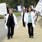 Most UC Davis student health center doctors join picket lines