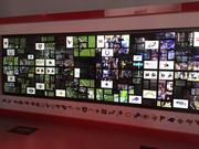 The Wow Wall features 250 smartphones and tablets in the Verizon Power House.