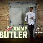 Chicago Bulls' rising star Jimmy Butler is looking very DEW-y these days