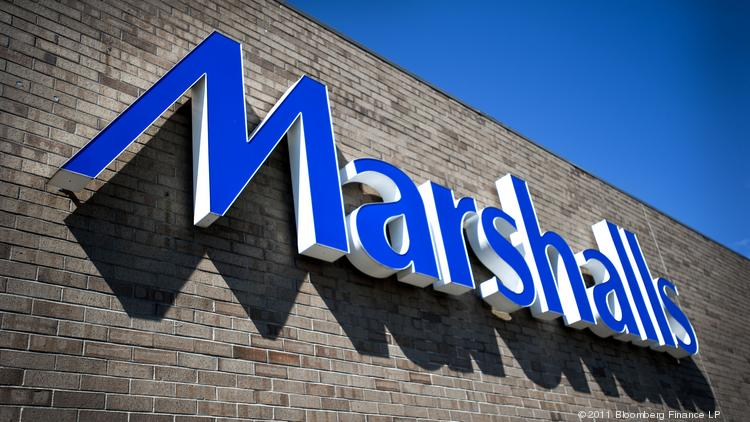 Signage for Marshalls  a brand of TJX Cos  Inc   is displayed outside. Marshalls HomeGoods combo store to open in Kenwood Square