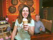 """Lisa Hurlinger launched Portland ice cream company Ruby Jewel 10 years ago. But after outgrowing its production facility in 2013, it took more than a year for the company to find a new space that suited its needs. """"We looked at 150 properties before we found a space out by the airport that would work,"""" said Jim Noonen (back), the company's CEO ."""