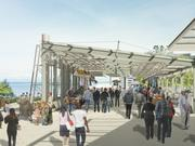 The cost of Pike Place Market's expansion has increased due, in part, to the addition of this rooftop canopy that will provide much-needed cover for stalls where farmers and artists will sell their wares.