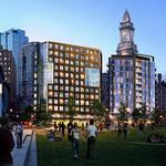 The Greenway's newest residential building is set to open this summer