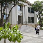 A proposed bill could cut salaries of 10 UH executive employees