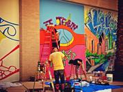 """The interpretations of the graffiti murals drew from what it means to be """"hip, tasty, funky and inspired."""""""