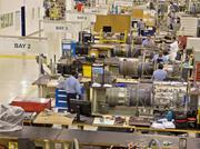 Servicing aviation components at a StandardAero facility.