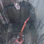 Bertha tunnel machine starts to dig again, but only to break through into repair pit