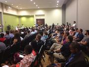 A look at the crowd that assembled at USF St. Petersburg for Startup Weekend Tampa Bay.